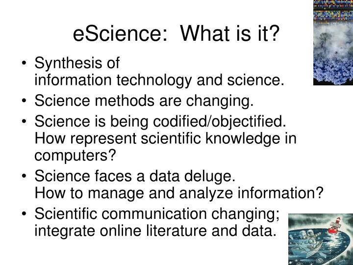 Escience what is it