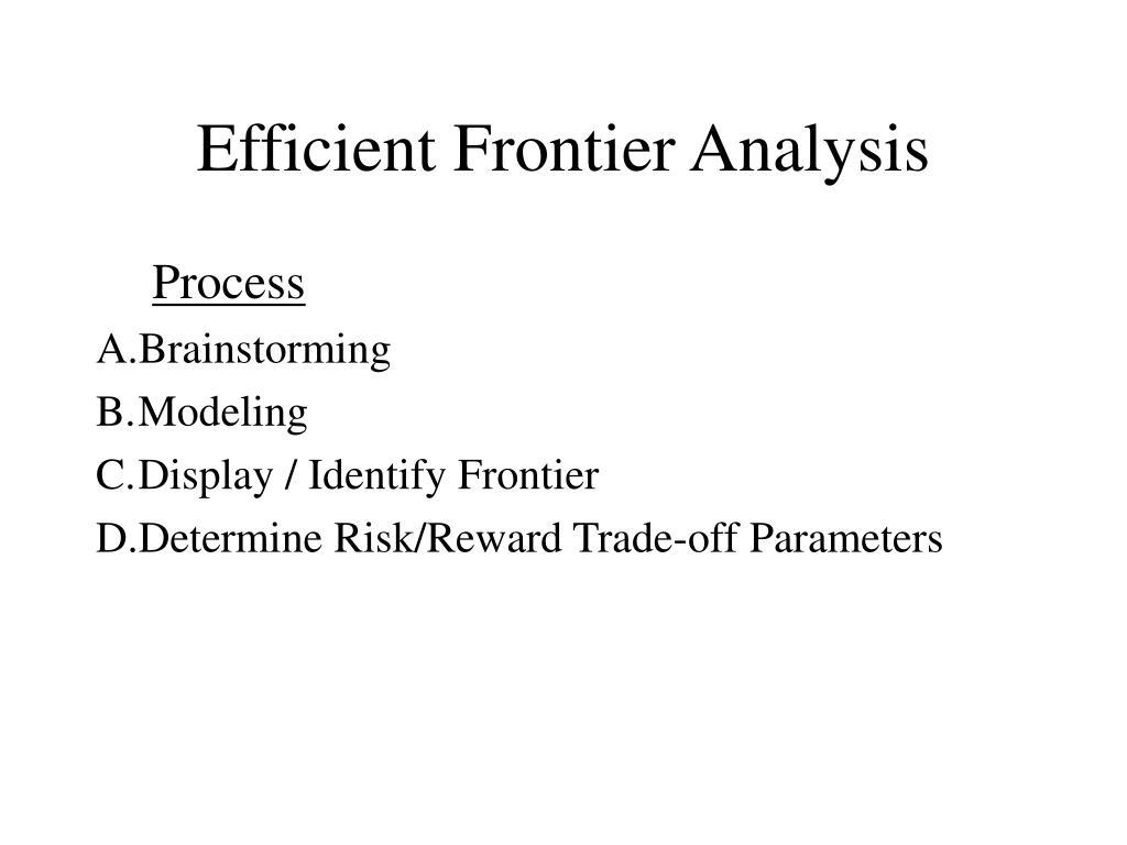 Efficient Frontier Analysis