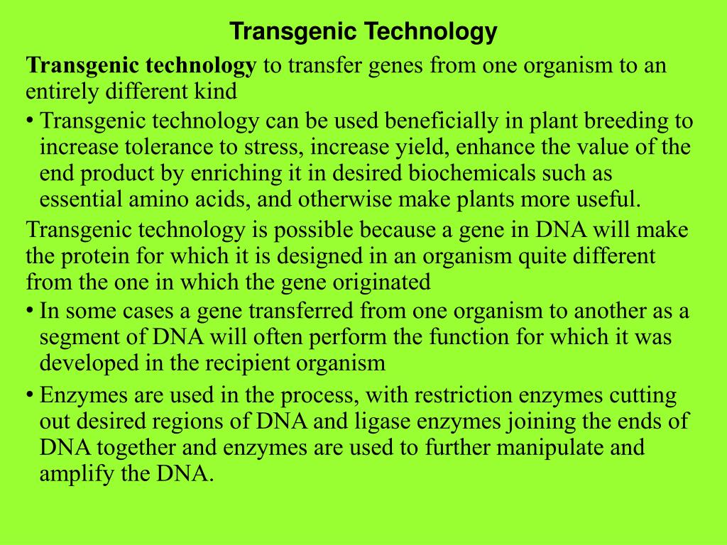 Transgenic Technology