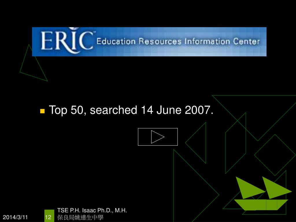 Top 50, searched 14 June 2007.