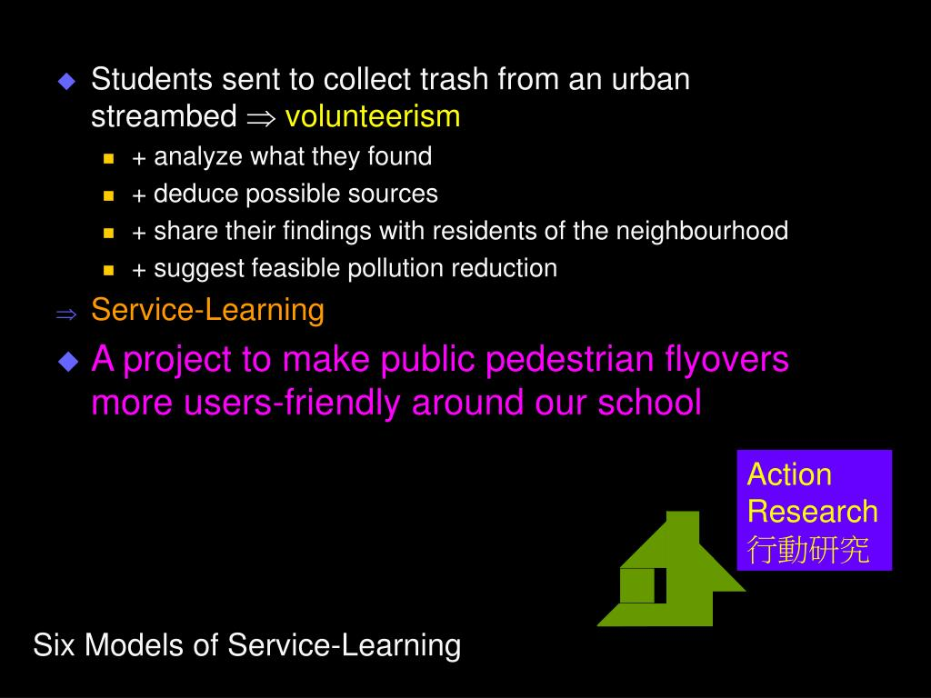 Students sent to collect trash from an urban streambed