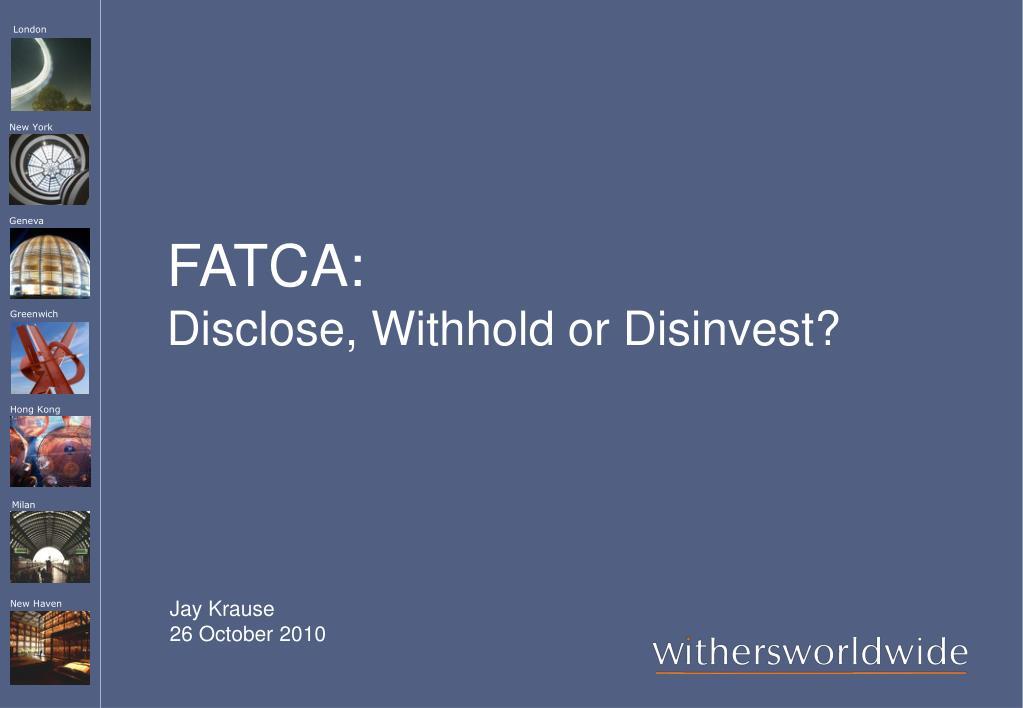 FATCA: