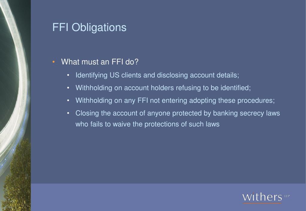 FFI Obligations