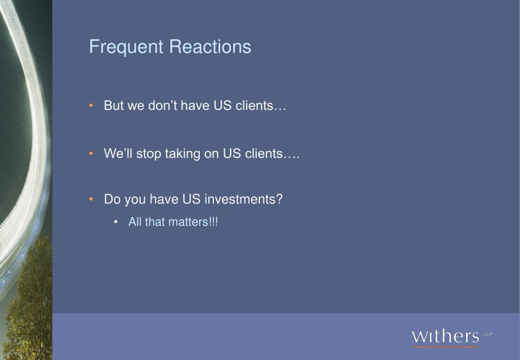 Frequent Reactions