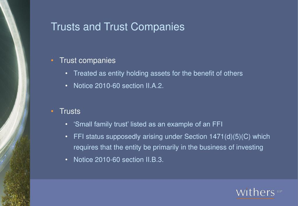 Trusts and Trust Companies