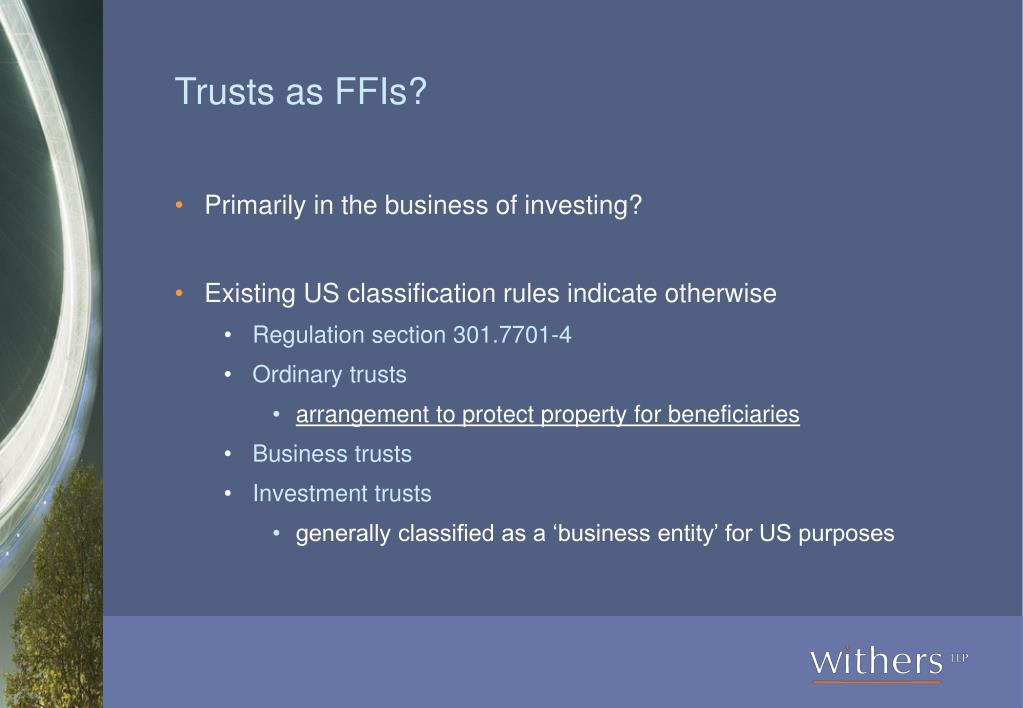 Trusts as FFIs?