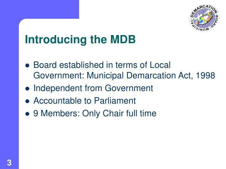 Introducing the MDB