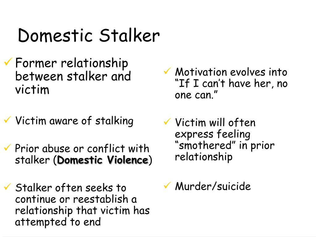 Former relationship between stalker and victim