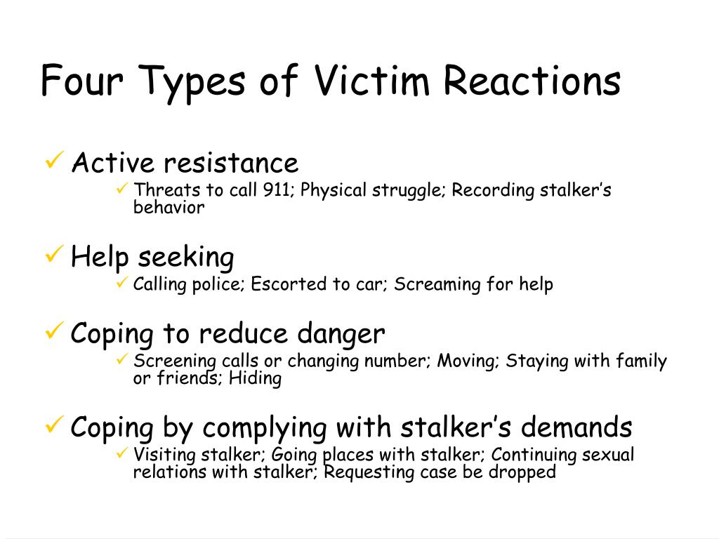 Four Types of Victim Reactions