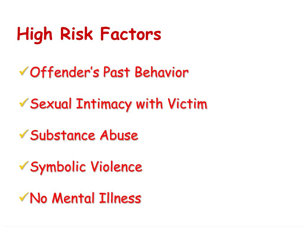 High Risk Factors