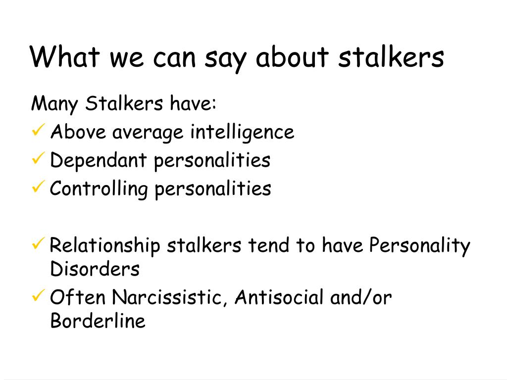 What we can say about stalkers