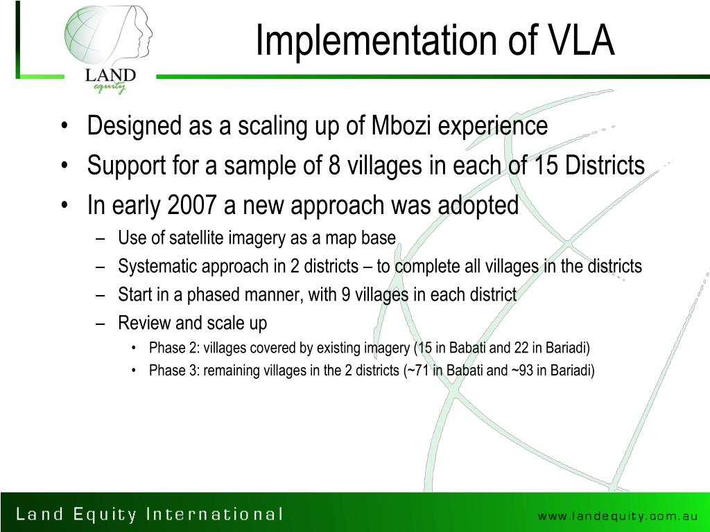 Implementation of VLA