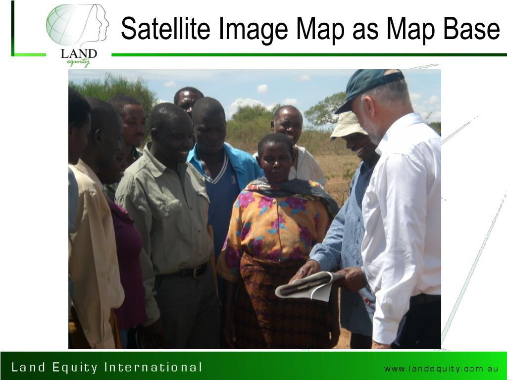 Satellite Image Map as Map Base