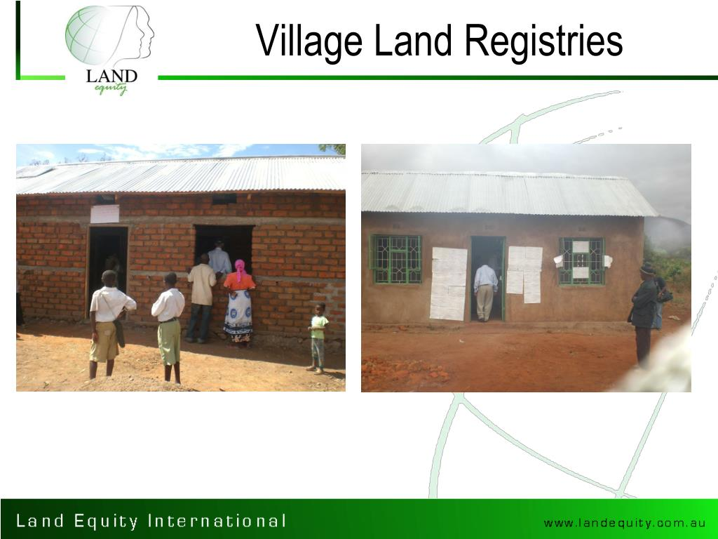 Village Land Registries
