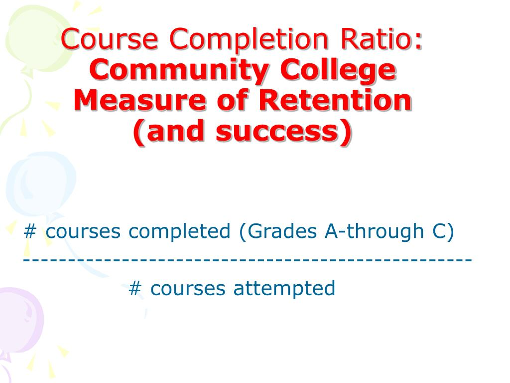 # courses completed (Grades A-through C)