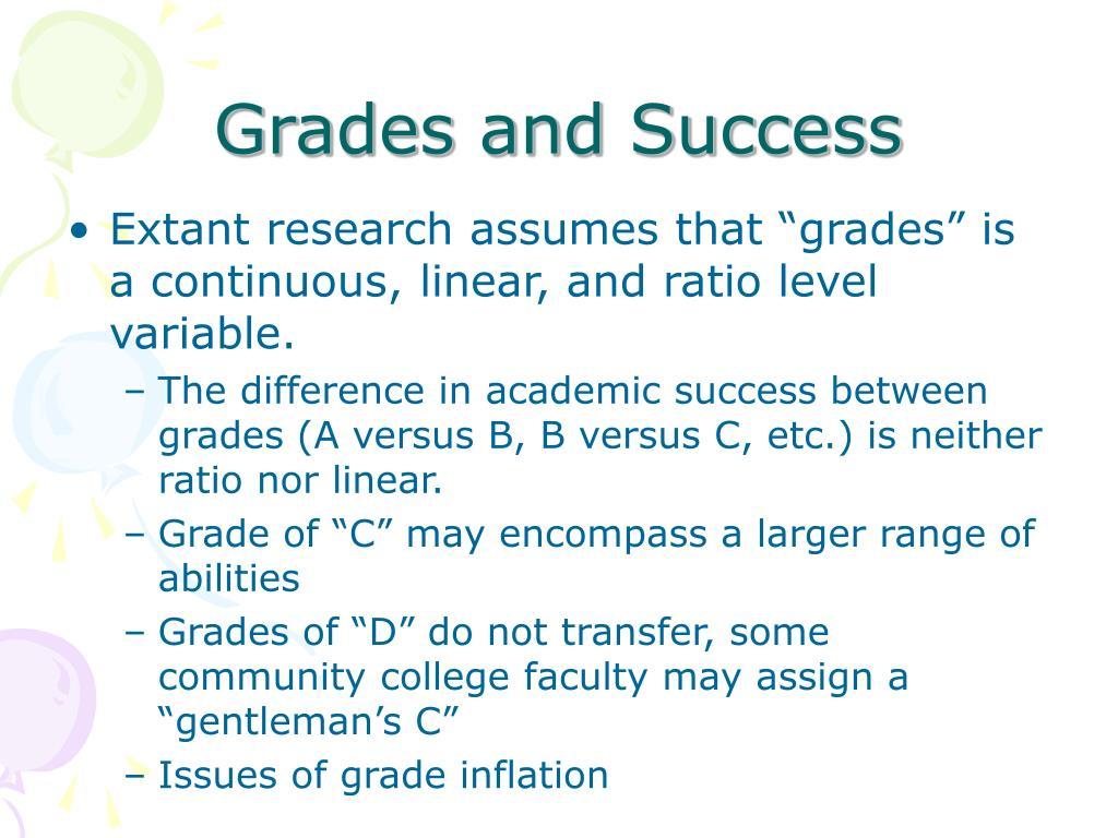 Grades and Success