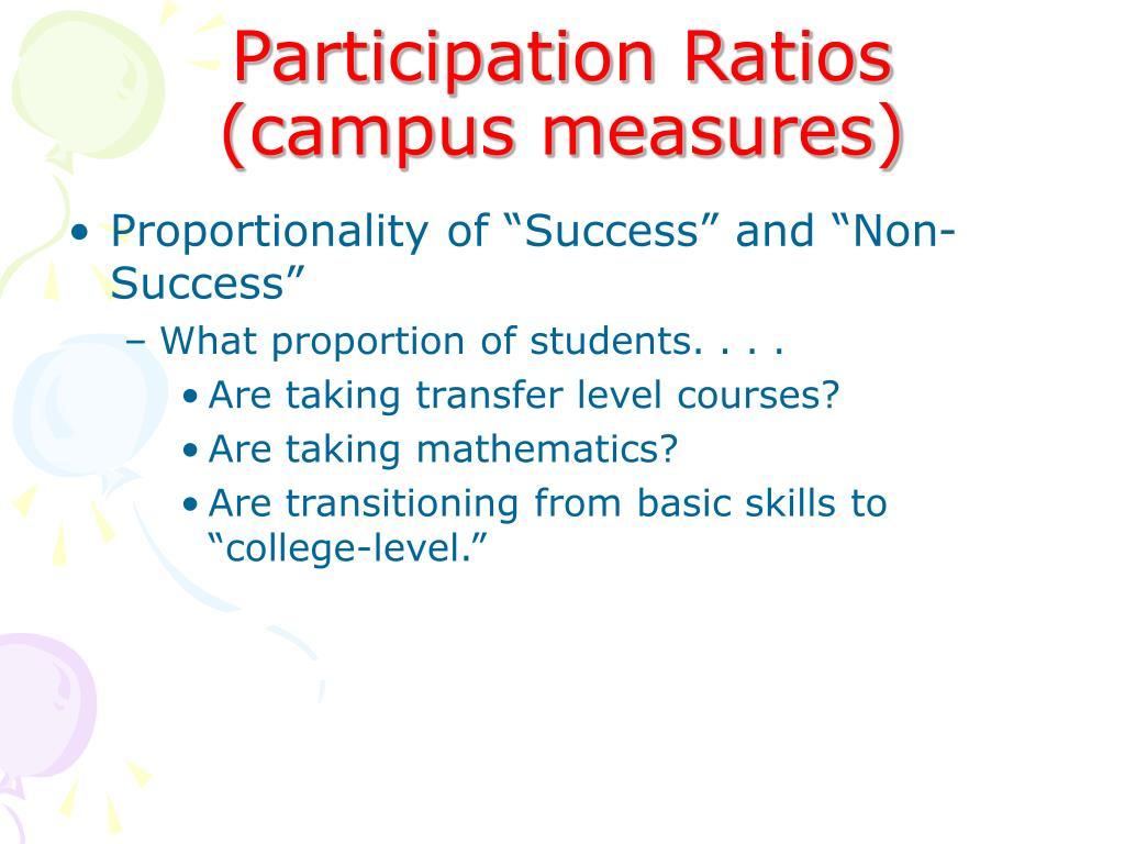 Participation Ratios