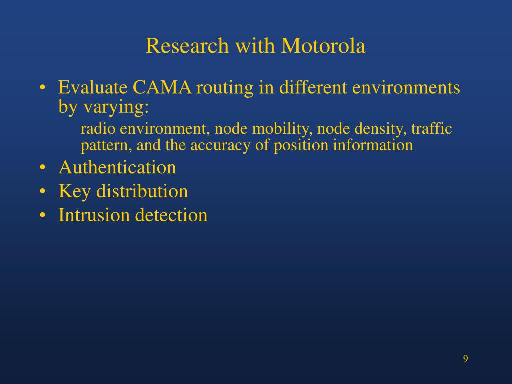 Research with Motorola
