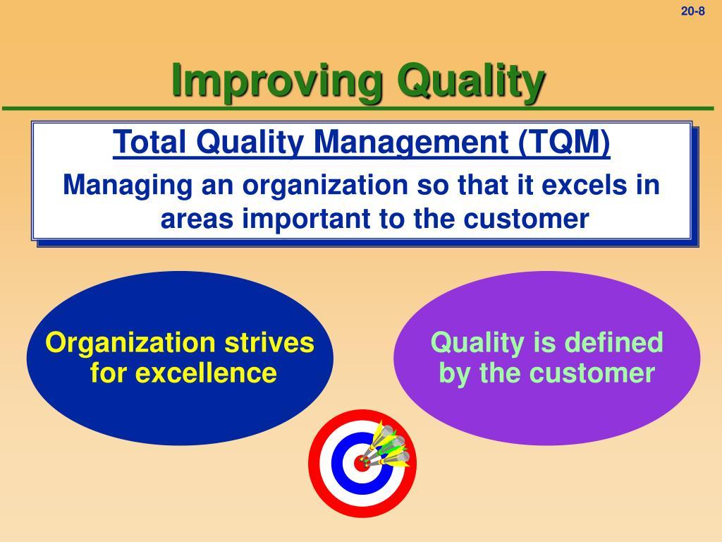 Improving Quality