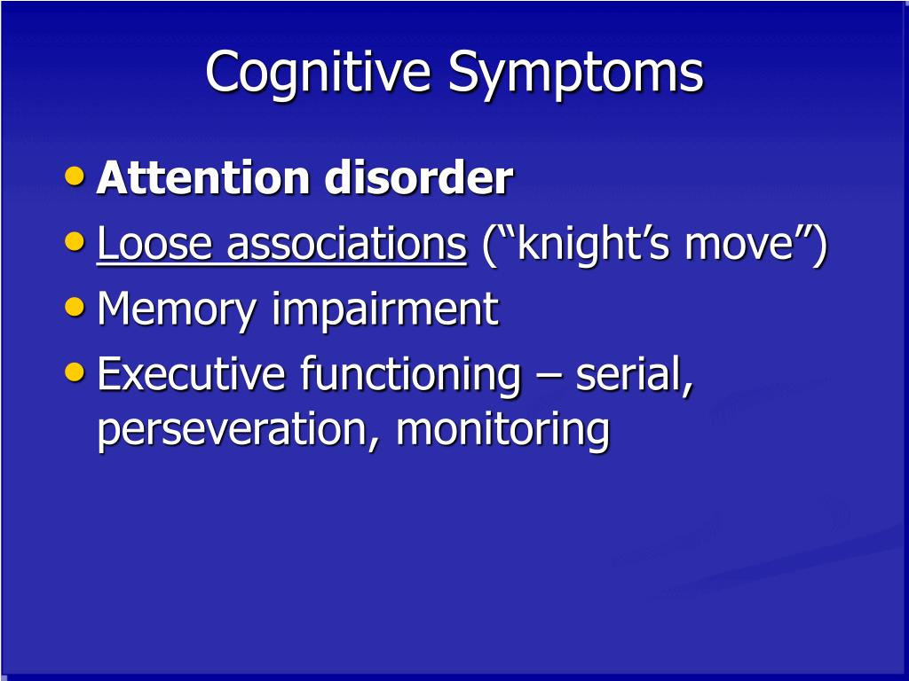 Cognitive Symptoms