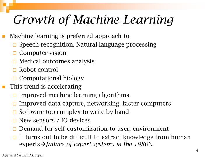 Growth of Machine Learning