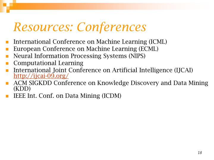 Resources: Conferences