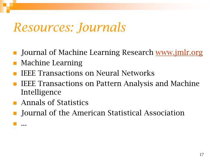 Resources: Journals