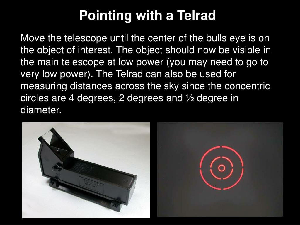 Pointing with a Telrad