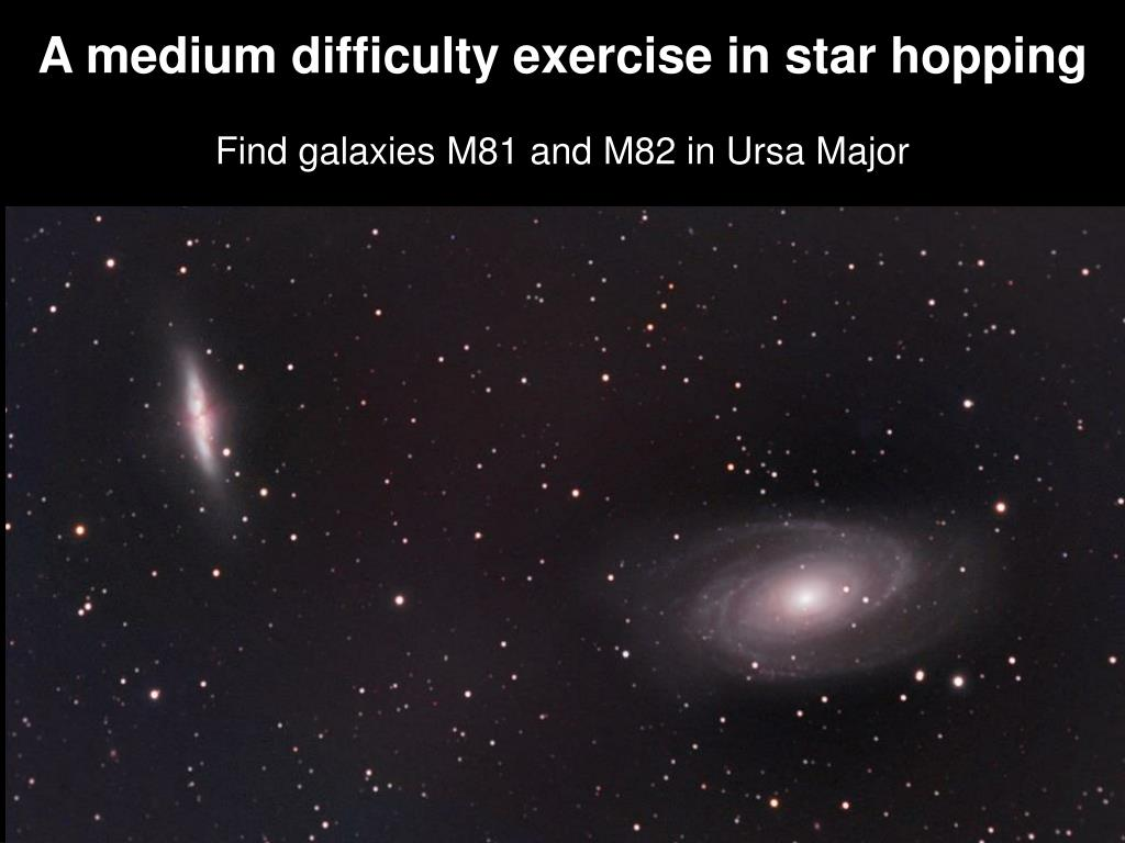 A medium difficulty exercise in star hopping