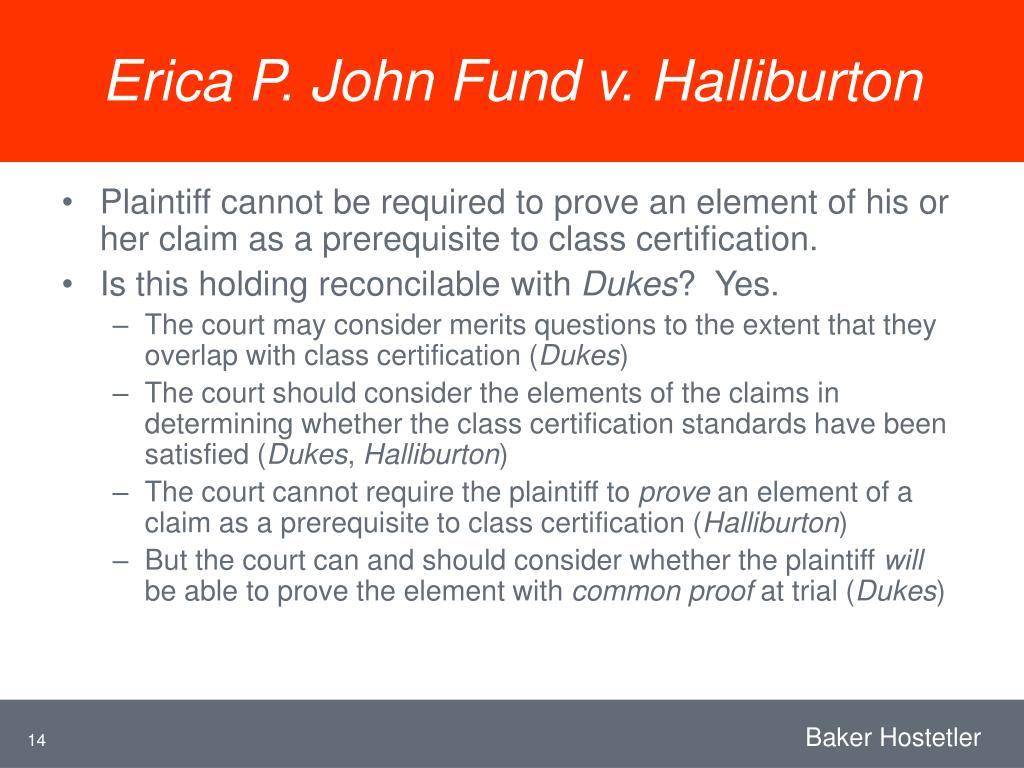 Erica P. John Fund v. Halliburton