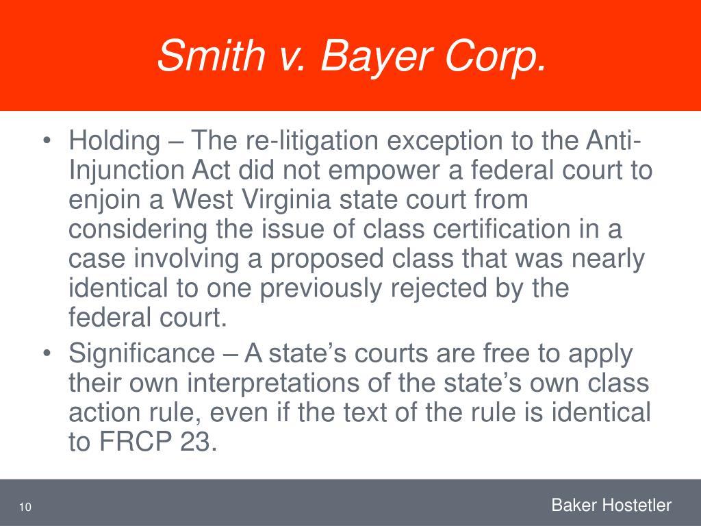 Smith v. Bayer Corp.