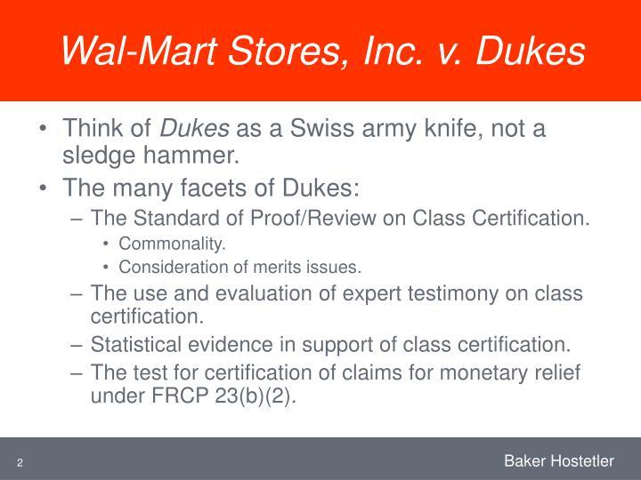 Wal mart stores inc v dukes