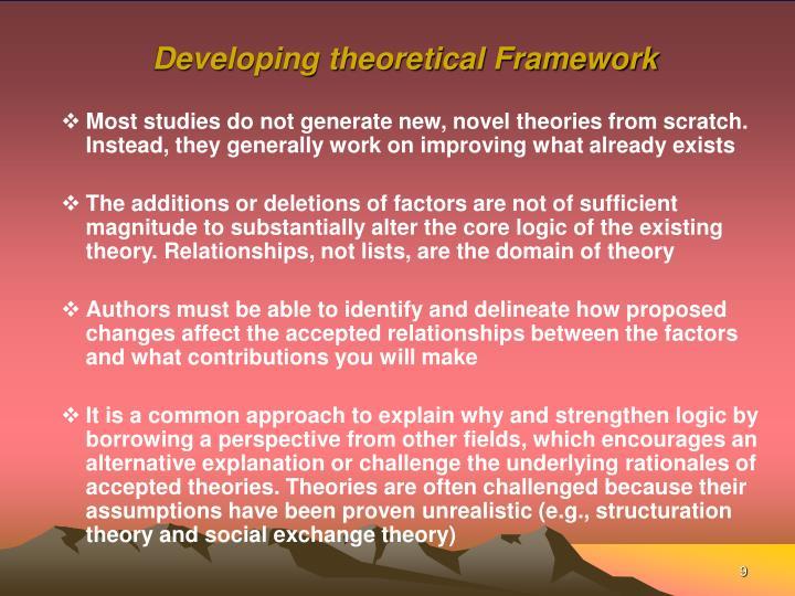 Developing theoretical Framework