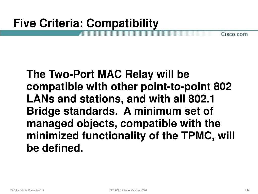 Five Criteria: Compatibility