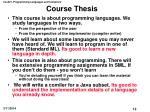 course thesis