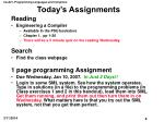 today s assignments