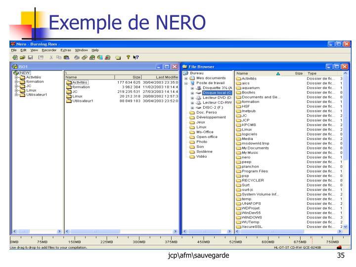 Exemple de NERO