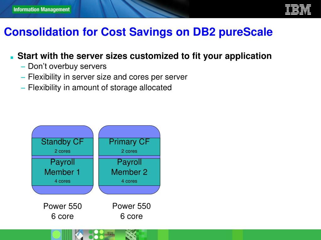 Consolidation for Cost Savings on DB2 pureScale
