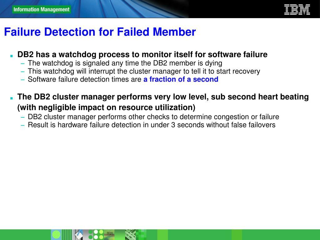 Failure Detection for Failed Member