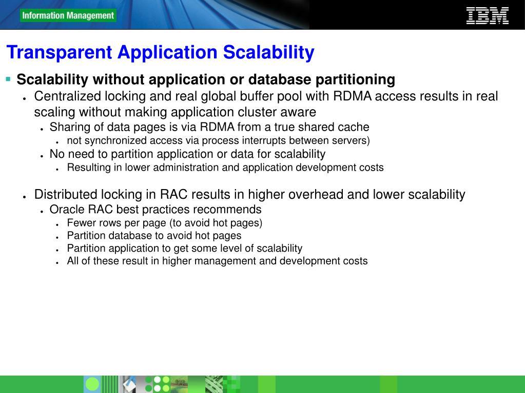 Transparent Application Scalability