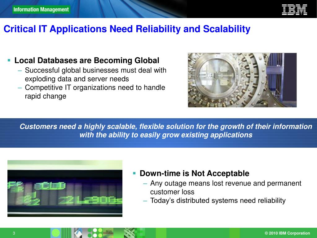 Critical IT Applications Need Reliability and Scalability