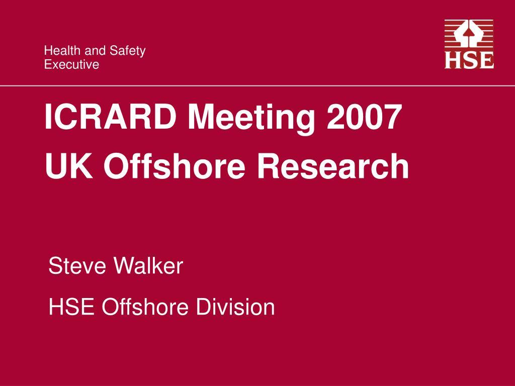 ICRARD Meeting 2007