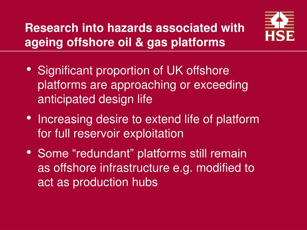 Research into hazards associated with ageing offshore oil & gas platforms