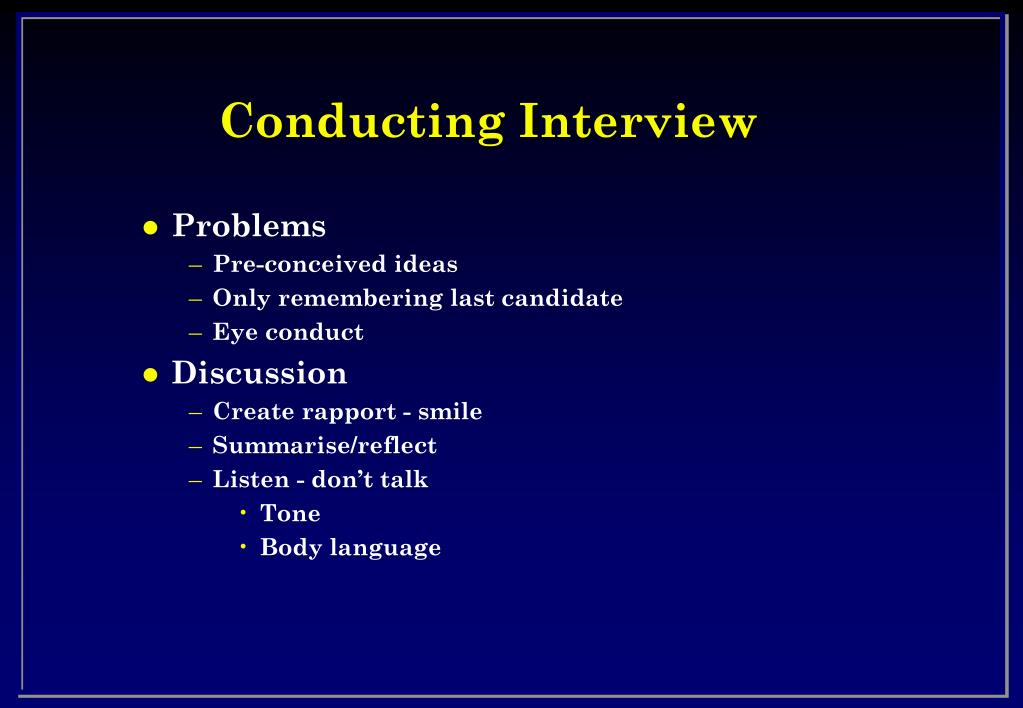 Conducting Interview