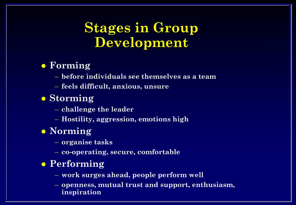 Stages in Group Development