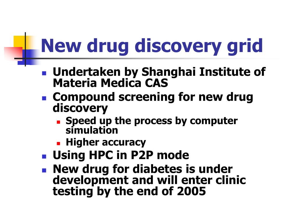 New drug discovery grid