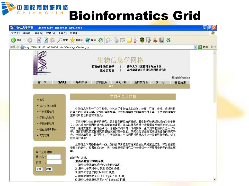Bioinformatics Grid