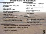base camp standard operating procedure
