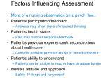 factors influencing assessment