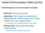 verbal communication skills cont d25